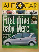 AUTOCAR MAGAZINE 25-JUN-97 - Ford Puma, Renault Megane Cabriolet, Mercedes A160