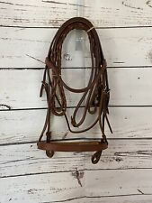 New English Leather Bridle Cavesson And Reins
