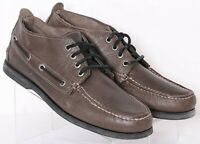 Sperry Top-Sider STS10073 Brown Leather Moc Toe Boat Chukka Boots Men's US 9.5M