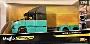 Maisto Design - 1/64 Custom Rigs Mack Anthem Black/Green (BBMA12389MABG)