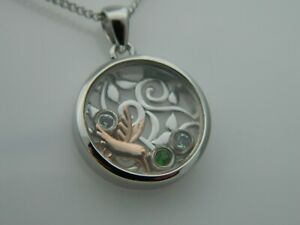Clogau Silver & 9ct Rose Gold Hummingbird Inner Charm Pendant RRP £169.00