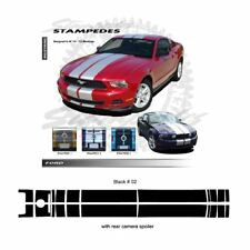 Ford Mustang 2010 - 2012 w/ Rear Camera Spoiler Ralley Stripes Kit - Gloss Black