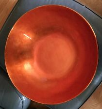 Oriental Black and Rust Laquered Bowl