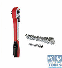 "Teng Tools 1/4"" Drive Fibre Reinforced Ratchet with BONUS Extension & Sockets"