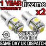 2x 433 433c 434 BAX9S H6W OFFSET 5 SMD LED WHITE INTERIOR SIDE LIGHT BULB UK