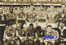 Fußball Weltmeisterschaft + Weltmeister Postkarten Serie + 1958 + BRASILIEN