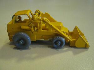 Vintage Matchbox Lesney Weatherill Excavator Bull Dozer grey wheels 1960s #24