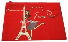 French Chic Girl in Beret EIFFEL TOWER Purple I LOVE PARIS Wallet Bag from PARIS