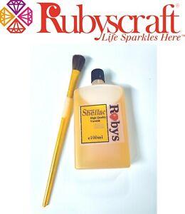 High Quality 100ml  Shellac Varnish Bottle Rubyscraft with Free Brush
