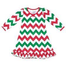 Saras Prints Girls Christmas Red Green Holiday Nightgown Dorm Sleep Shirt Size 6
