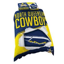 North QLD Queensland Cowboys SINGLE Bed Quilt Doona Duvet Cover Set NEW 2018