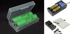 2 x Samsung Li-ion Battery INR18650-25R 3,7V 2500mAh 20A + Xtar VC2 Charger
