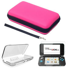 Hard Carry Bag Case+Crystal Cover +Screen Protector For Nintendo 2DS XL/LL 2017