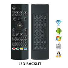 Backlit Wireless Remote Control Fly Air Mouse Keyboard for Smart TV Box Android