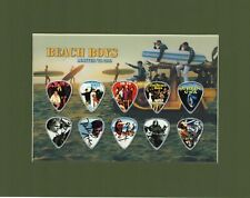 Beach Boys Matted Picture Guitar Pick Set Limited Mike Love Help Me Rhonda