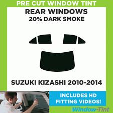 Pre Cut Window Tint - Suzuki Kizashi 2010-2014 - 20% Dark Rear