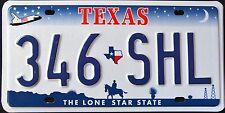 "TEXAS "" LONE STAR MAP SHUTTLE COWBOY "" TX Vintage Classic License Plate"