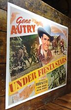 "GENE AUTRY UNDER FIESTA STARS RE-RELEASE WESTERN FILM 18"" X 23"" MOVIE POSTER"
