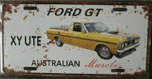 FORD GT XY Ute metal signs Aust Muscle cars man cave 30x15cm FREEPOST