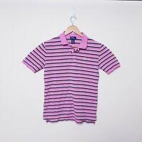Polo Ralph Lauren Womens Size XL Pink Striped Short Sleeve Cotton Polo shirt