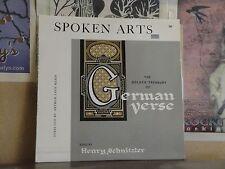 GOLDEN TREASURY OF GERMAN VERSE - LP GOETHE SCHILLER HEINE RILKE