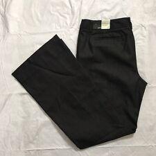 Ann Taylor Loft ANN Jeans Size 6P Trouser Flare Leg A Line Stretch Black NWT