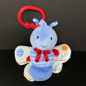 Carters Just One You Butterfly Plush Toy Music Lights Twinkle Star Blue Crinkle
