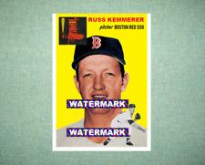 Russ Kemmerer Boston Red Sox 1954 Style Custom Baseball Art Card