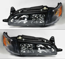 Toyota Corolla 1993-1997 Euro Style Black Headlights w/ Corner Lights Pair RH LH