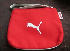 "Puma Womens Zipper  Hand Bag 15cm x 13cm ( 6""x 5"")   Red White"