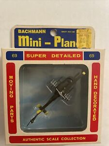 Bachmann Mini Planes Bell UH-IN Iroquois No. 69 Vintage Toy