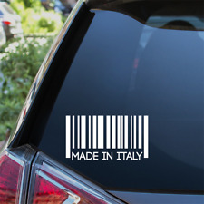 MADE IN ITALY Funny Car Sticker Window Bumper Vinyl Decal