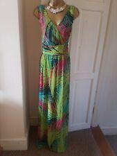 New Alexon Multicolored Tropical Leaves Pattern Women's Maxi Dress Size UK 22
