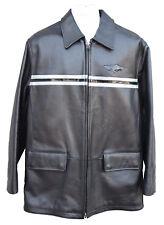 Vintage Rare Nike Jordan TWO 3 23 Leather Jacket Black Leather Lrg