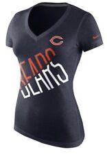 Nike Women s Chicago Bears Tri Blend Faster V Neck Football Jersey Shirt  Small S 3d1bfc0ac