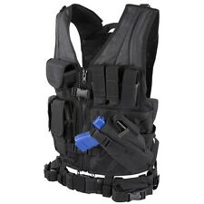 Condor XL/XXL Military Cross Draw Tactical Chest Rig Vest Holster Pouch BLACK