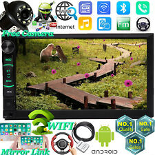 7inch Double 2DIN Car Android Stereo Radio No-DVD MP5 Player 4G WIFI GPS CAMERA