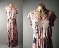 Tie-Dye Romantic Boho Goddess Blouson T-Shirt Long Maxi 282 mv Dress XL 2XL 3XL