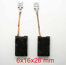 2 Paquete de escobillas de carbón para Bosch Angular Amoladoras Ranurar máquinas 6.3x16x23mm