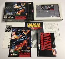 Batman Forever SNES Super Nintendo CIB 100% Complete 1st Print NM MADE IN JAPAN