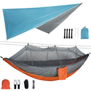 300x260cm Awning + 260x140cm Double Person Camping Hammock With Mosquito