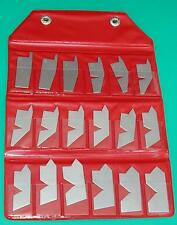 Gloster 18 piece Angle Gauge Set 5-90⁰ Stainless Steel
