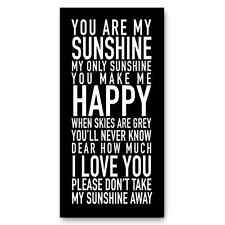 You Are My Sunshine My Only Sunshine Sign, Print, Picture, Wall art