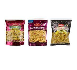 Haldiram's Indian Snacks Variety Namkeen Mix Cornflakes Navarattan Panchrattan