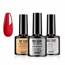 3pcs UV LED Nail Gel Polish Varnish Soak Off Matte Top Base Coat Glossy