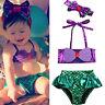 Toddler Baby Girls Kids Mermaid Summer Beach Swimwear Swimsuit Bikini Playsuit