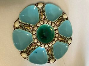 ANTIQUE MINTON MAJOLICA OYSTER PLATE ESTATE BUY NO RESERVE FREE SHIPPING