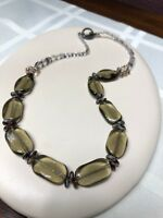 Smoky Topaz Colored Beads And Faceted Crystal Necklace With Toggle Clasp