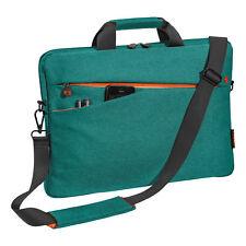 Notebooktasche 17,3 Zoll Laptoptasche mit Zubehörfächer, Schultergurt, türkis