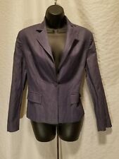 Italian Women's Size Medium 8/9 or 46 (Eur) Dress Coat Soft Blue Denim Jacket